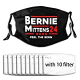 Bernie Sanders Mittens Sitting Inauguration Face Mask Bandanas Reusable Washable with Filters Dustproof for Unisex Balaclava