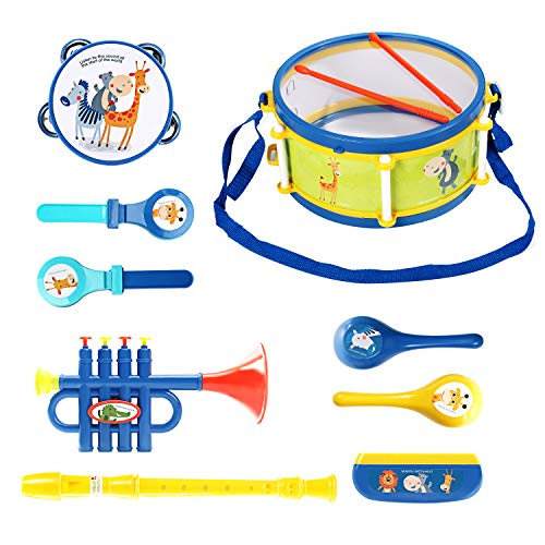 EagleStone Toddler Musical Instruments Toys, Kids Drum Set for 18 Months 1-3 Year Olds Baby