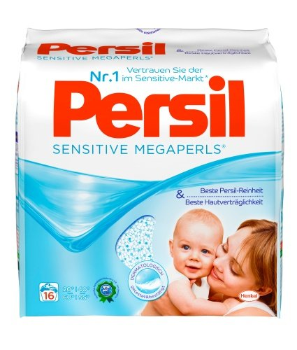 Persil Sensitive-Megaperls, Waschmittel, 80 WL, 5er Pack (5 x 16 WL)