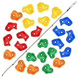Large Rock Wall Grips for Indoor and Outdoor Play Set Build Rock Climbing Wall with 2 Inch Mounting Hardware TOPNEW 25 Rock Climbing Holds for Kids and Adults