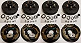 2-Pack Trailer Brake Backing Plates 10 in. (2LH 2RH) w/4 Hub/Drum Kit (5 on 4.5)