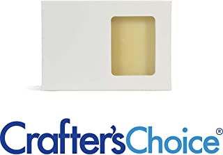 Crafter's Choice White Rectangle Window Soap Box - Homemade Soap Packaging - Soap Making Supplies - 100% Recycled Materials - Made in USA! 50 Pack