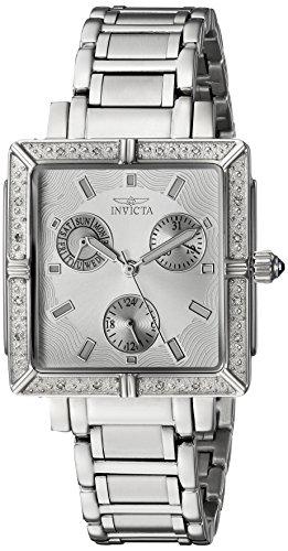 Invicta Women's Wildflower 32.6mm Stainless Steel Quartz Watch, Silver (Model: 5377)