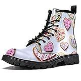 Bennigiry Postre de San Valentín Botas de caña Alta para Mujer Zapatos clásicos de Invierno Zapatos de Cuero Casuales