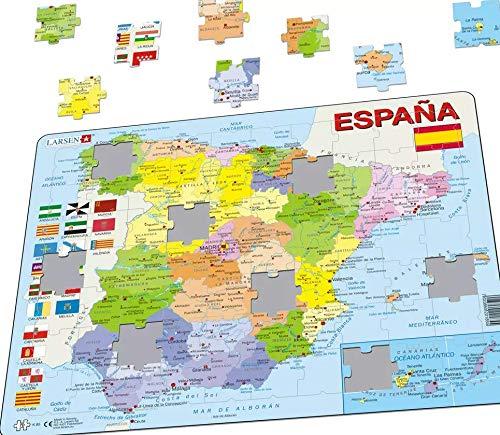 Larsen Puzzle K84–Spain-Political MAP