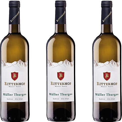 Müller Thurgau Alto Adige Doc | Ritterhof | Vino Bianco Altoatesino | Sudtirol | 3 Bottiglie 75 Cl | Idea Regalo