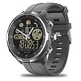 Space element IP68 / 50M Wasserdicht Robuste Smartwatch Herzfrequenz Mechanische Zeiger 1,24 Zoll Smartwatch Männer,Gray