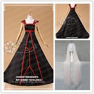コスプレ衣装 Fate/Zero アイリスフィール 黒化版 ドレス ワンピース 礼服+ウィッグ