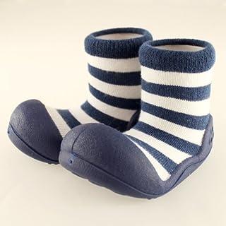 ベビーシューズ Baby feet ベビーフィート ラバー底ソックス CASUAL ( 12.5cm , Casual Navy ネイビー )