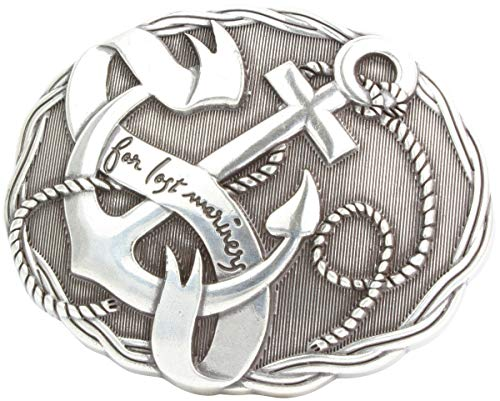 Brazil Lederwaren Gürtelschnalle Anker 4,0 cm   Buckle Wechselschließe Gürtelschließe 40mm Massiv   Wechselgürtel bis 4cm   Silber
