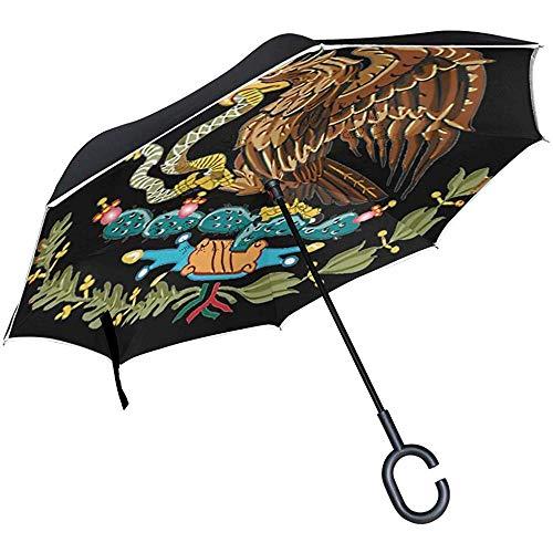 Paraguas de Doble Capa Paraguas Plegable inverso Serpiente de Grifo Paraguas De...