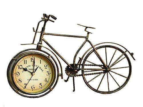 (スマイル)smile アンティーク 自転車 モチーフ 置時計 おしゃれ アイアン製 レトロ風 インテリア 置物 雑貨