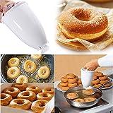 Favson Donut-Maker aus Kunststoff, Maschinen-Form, Heimwerker-Werkzeug, Küche, Gebäck, Backwaren, Küchenzubehör, Weiß