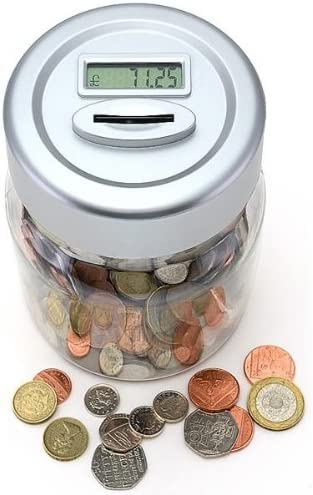 Gift House Int Digital Uk Coin Counting Money Jar Amazon Co Uk Kitchen Home