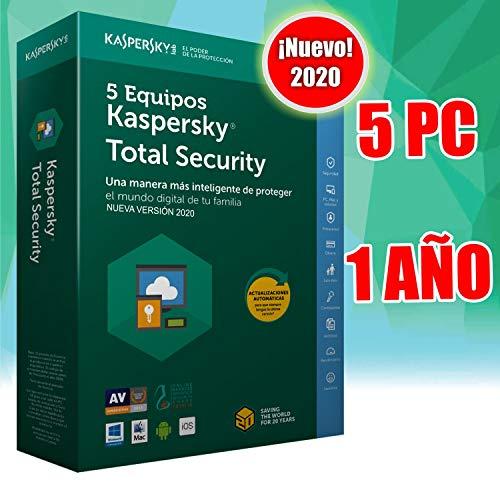 KASPERSKY TOTAL SECURITY 5 EQUIPOS 2020 licencia no cd