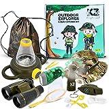 Kayka Zak Bug Catcher kit for Kids Adventure Outdoor Explorer kit for Boys & Girls Age 3-12. Camping & Safari Toys. Including Binoculars, Flashlight, Magnifier, Fan, Butterfly net