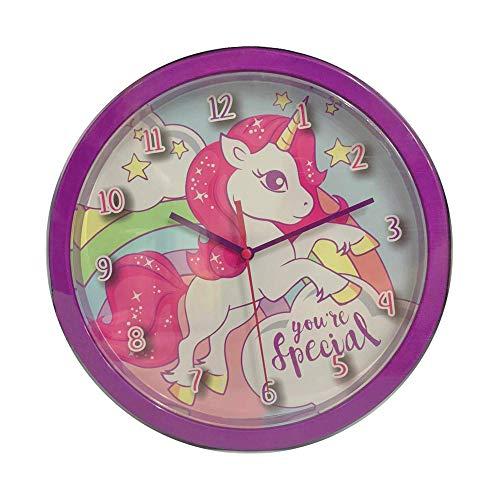 Desconocido Orologi da parete della collezione Unicorni da camino per decorazione della casa marca Kids