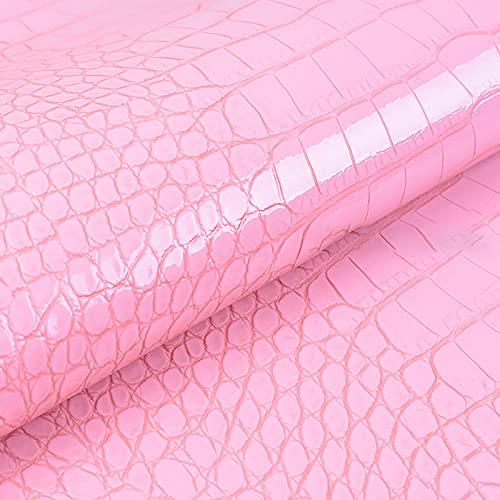 MUYUNXI Polipiel Cuero Artificial De Cuero para Tapizar Sofá Polipiel Silla Manualidades Cojines 138 Cm De Ancho Vendido por Metro(Color:Rosa)