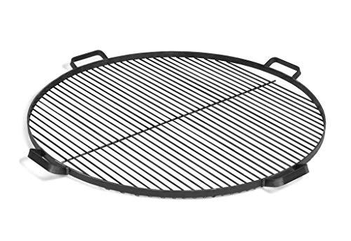 BlackOrange Grillrost aus Stahl Ø 80 cm mit 4 Haltegriffen als Grillauflage für Feuerschalen Ø 80 cm