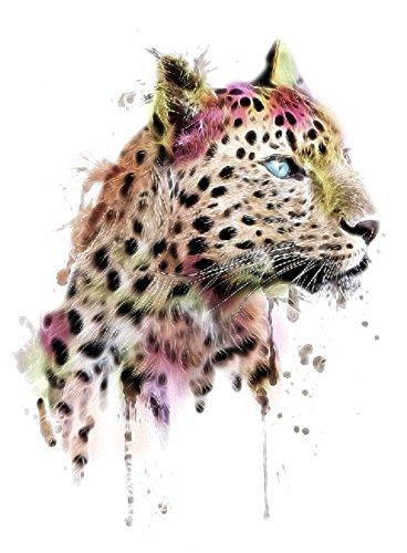 Tatouage léopard TH-097 - Idéal pour les festivals et les fêtes