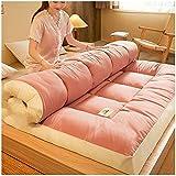 YSDQ Materasso futon Pieghevole Giapponese, Materasso da Pavimento Addensato Materassino per Lettino Portatile con materassino Tatami Matrimoniale Completo Matrimoniale