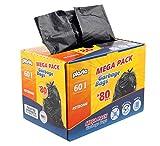 Garbage Bin Bags - Bolsas de recambio para polvo (60 L, 25 µm, 75 x 58 cm)