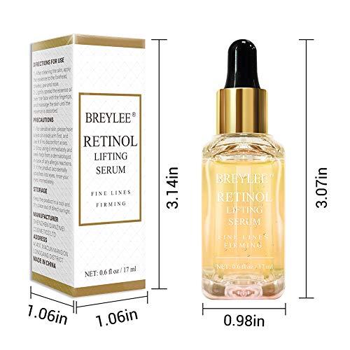 51dt2ADW1xL - Retinol Serum, BREYLEE Anti Aging Anti Wrinkle Face Serum Vitamin A Retinol with Natural Ingredients for Skin Care Eye Care Fade Lines Acne Scars Dark Spots (17ml, 0.6 Fl Oz)