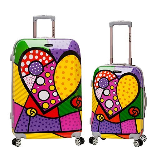 Rockland Departure Hardside Spinner Wheel Luggage Set, Heart, 2-Piece (20/28)