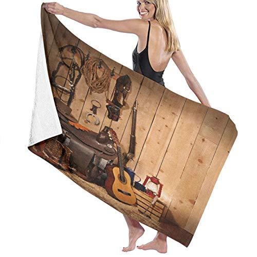 AIMILUX Toalla de Playa,Un diseño de temática Occidental Que Deja Espacio de Copia en el Lado Derecho,Toallas de Baño Toallas de Acampada Piscina Natación Playa Toallas de Mano Ducha Toallas de Mano