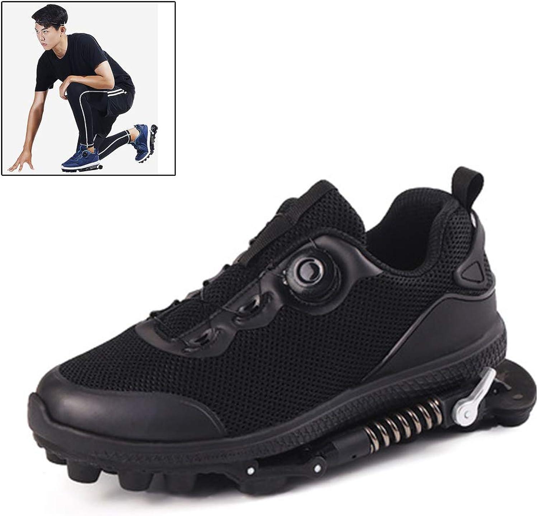 graut CC Luftsport-Laufschuhe mit stoabsorbierender Feder,Jogging-Trainer Unisex Gym Fitness Leichte Schuhe, Schwarz,8