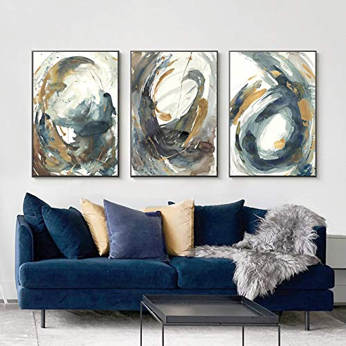 XIANGPEIFBH Wall Art Abstract Painting Sofa Living Room Decoration Artwork Canvas Printing Home Decor Canvas Painting Art 40x60cmx3pcs Unframed