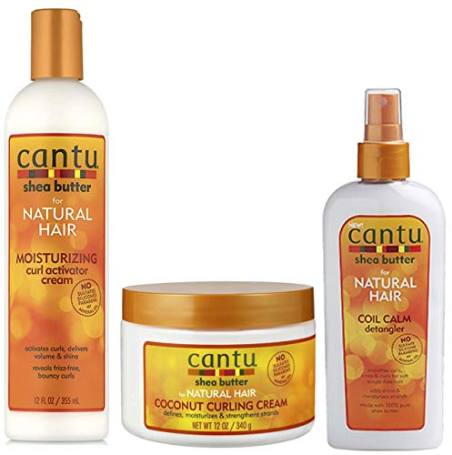 Curl Control Combo - Cantu Cream Activator Curl Activator Cream 355ml, Cocco Curling Cream 340g & Coil Detangler Calm 237ml
