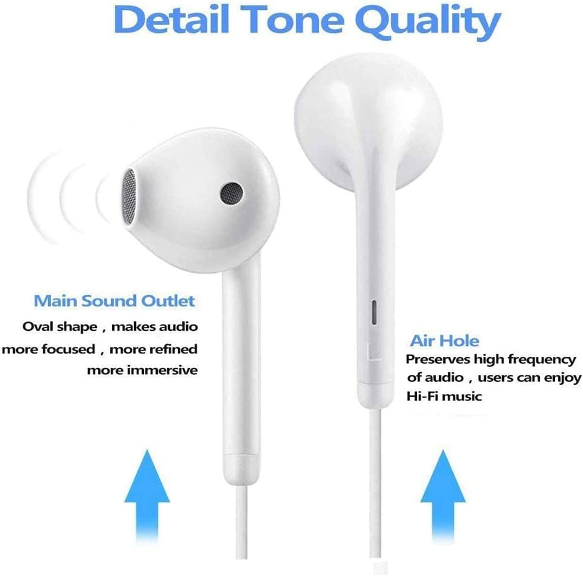 Compatible with iPhone 11//12 Pro Max//Xs Max//XR//X//7//8 Plus Earbuds Headphones Wired Earphones with Microphone and Volume Control
