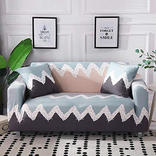 ASCV Protector de Muebles-Funda elástica para Sala de Estar Funda de sofá de Esquina Funda de sofá elástica A5 2 plazas