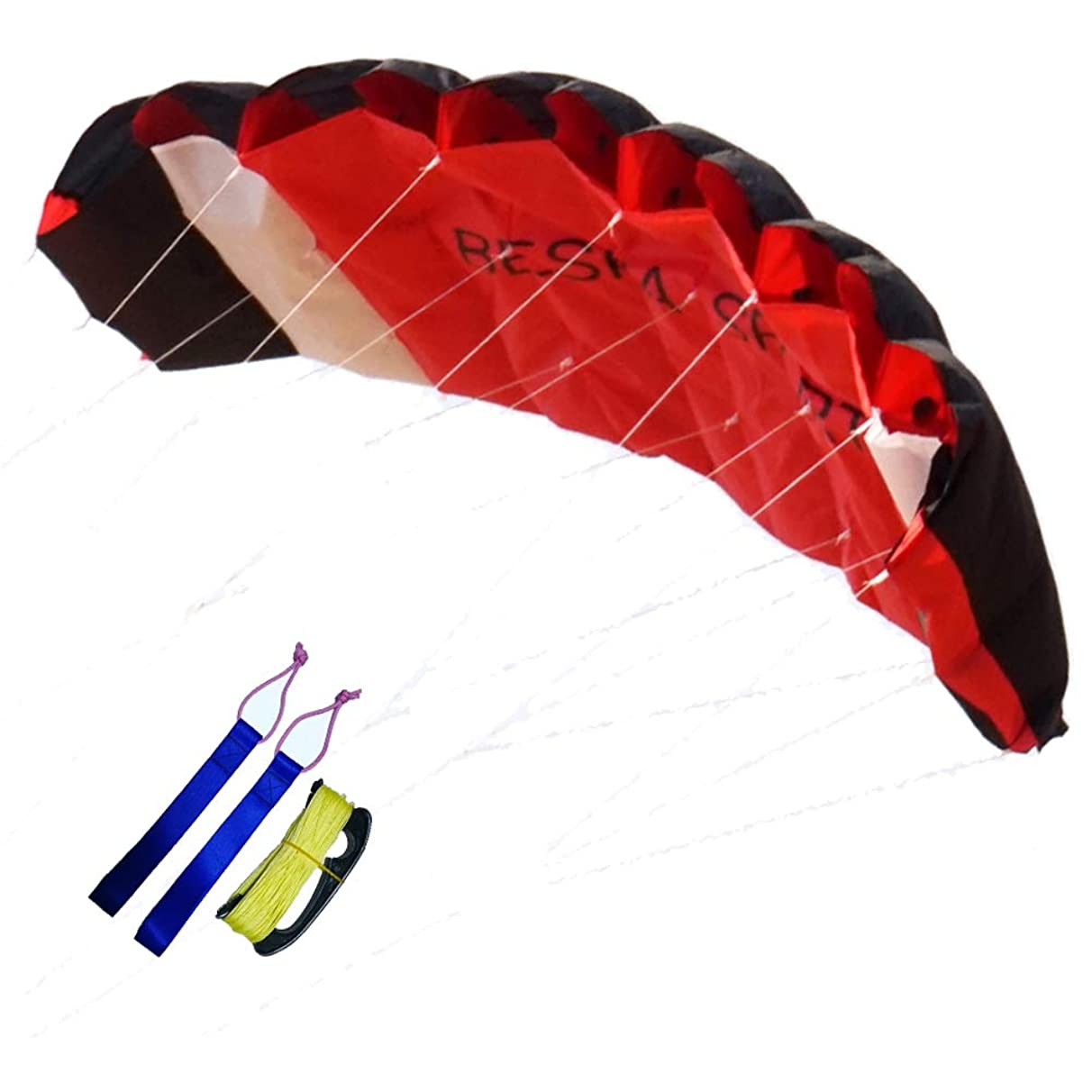 Besra Huge 74inch Dual Line Parachute Stunt Kite with Flying Tools 1.9m Power Parafoil Kitesurfing Training Kites Outdoor Fun Sports for Beach