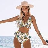 TSP Traje de baño clásico 2021 sexy brasileño bikinis mujer traje de baño acolchado Halter Bikini Set Push Up Beach Wear traje de baño natación (color: LX19329P1, talla: L)