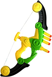 WenToyce Soft Arrow Bow Set for Kids, Foam Beginner Archery Kit for Starters, with 4 Darts Suction Cup Arrows, Green