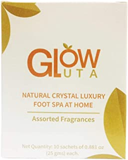 GlutaGlow Gel - Luxury Foot Spa At Home - Jelly Pedi Foot Soak for Pedicure, For Refreshing, Moisturizing and Rejuvenating Feet