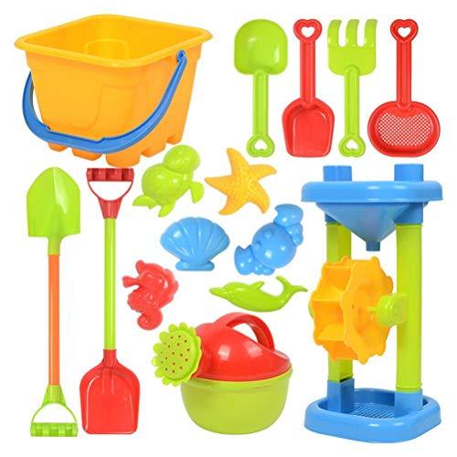 Akemaio Outdoor-Strand - Juego de juguetes para la playa y la arena para niños