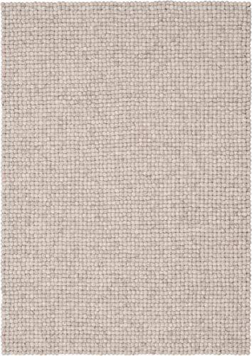 myfelt Béla Filzkugelteppich, rechteckig, Schurwolle, beige, 160 x 230 cm