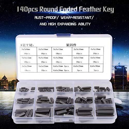Llaves de eje, 140 llaves de plumas con extremos redondos, exteriores para sujetar los equipos que se desmontan con frecuencia en interiores