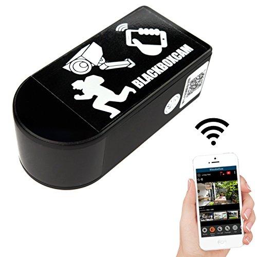 WLAN BlackBox Überwachungs Netzwerk Kamera Mini mit 180° drehbarem Objektiv kabellos mit App (Rotate Mini)