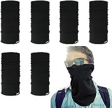 XHBERR 6PCS Magic Scarf Set, Unisex Face Scarf Mask, Headwear Elastic, Bandana, Neck Gaiter, Headwrap Helmet Liner, Resistence Balaclava for Workout,Yoga,Running,Hiking,Cycling