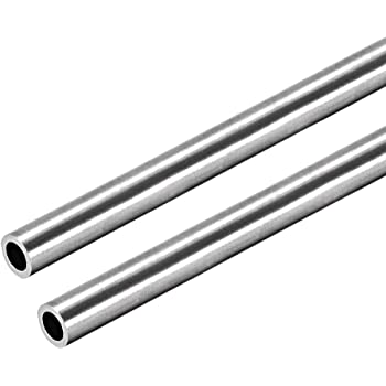 304 Stainless Steel Round Tubing 9mm OD 0.2mm Wall Thickness 250mm Length 4 Pcs