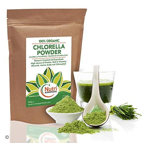 Organic Chlorella Powder - Rich in Chlorophyll - Increases Energy & Improves Digestion - 200g