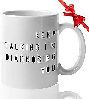 logy Mug - Funny Gifts for school logist - Famous Coffee Loving Mug Graduation Gift for Psychiatrist Teacher The Doctor Fe...