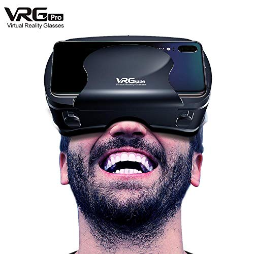 rosemaryrose 3D VR-Brille Spezielle 120-Grad-Weitwinkelobjektiv-3D-Virtual-Reality-Magical-Brille für 5-7-Zoll-Handy