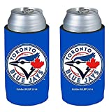 MLB Baseball Team Logo Ultra Slim 340 ml Bierdosen Kühler Halter Neopren Sleeve 2er Pack, Toronto Blue Jays