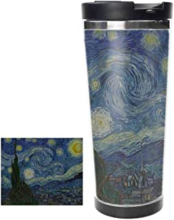 Van Goghs Starry Night Thermos Cup Stainless Steel Tumbler Vacuum Insulated Double Wall Travel Cup, 18oz,Tumbler Cup。