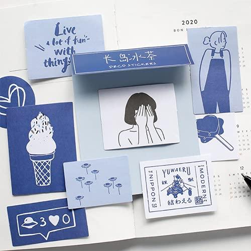 シール フレークシール 60枚セット 手帳ステッカー 手描き イラスト 韓国風 スケジュール 手帳ステッカー 手紙 カレンダー シンプル シンプルでかわいい (ロングアイランドアイスティー)